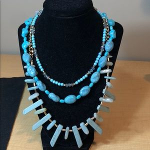 Jewelry - New turquoise glass stone layered necklace